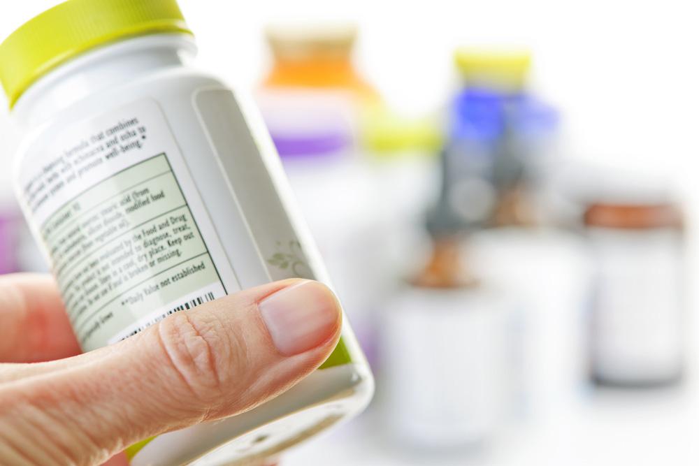 Etykieta farmaceutyczna na leku